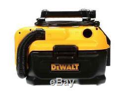 Wet Dry Vacuum Cleaner, Car Shop Vac, Portable, 2 Gal, Garage, Cordless Corded