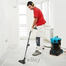 Wet Dry Vacuum Cleaner Industrial Shop Vac Bagless HEPA filter 25 L Blue1200 W