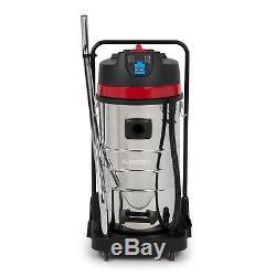 Wet Dry Vacuum Cleaner Industrial Vac Commercial Stainless Steel IP44 100L 2400W