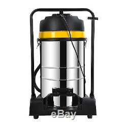 Wet&Dry Vacuum Cleaner Powerful 3000W 80L Stainless Steel Industrial Shop Vac