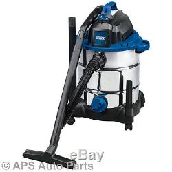 Wet Dry Vacuum Cleaner Stainless Steel Tank Car 30l 1400w 230v Hoover Remove