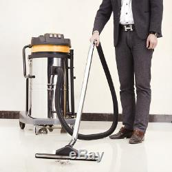 Wet and Dry Vacuum Cleaner Industrial 80 Litres 3600W Stainless Steel Container