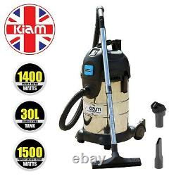 Workshop Vacuum Cleaner with 1500 Watt socket Power Take Off, 30 Litre